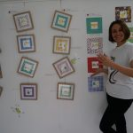 Author/Illustrator Lisa Tiffen with her Moodsters