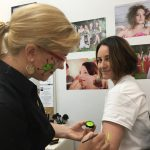 Lisa Tiffen with makeup artist Carol Robinson