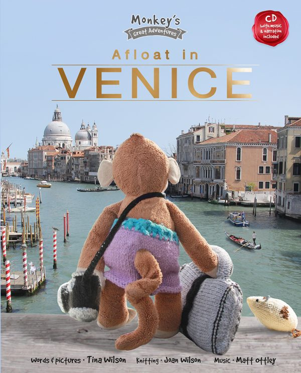 Cover design for the children's book Afloat in Venice by author and illustrator Tina Wilson