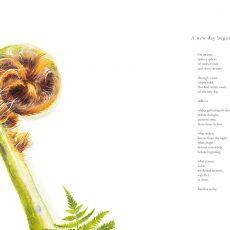 A new day begins: Artwork by Tina Wilson, poem by Nicholas Bennett